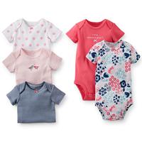 Hot Summer Autumn Short Sleeve Carters Original Baby Boy Girl Bodysuit Newborn Bodysuit Baby Clothing Overall Free Shipping