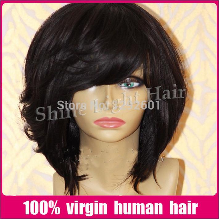 ... African American Bob Hair Short Bob Style wig With Bangs Straight