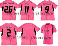 TELLO 11 BRAHIMI 8 jerseys best quality 14 15 man away prink ALEX SANDRO 2015 man DANILO JACKSON M.TELLO soccer jerseys