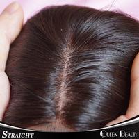 "Silk Base Closures Bleached Knots Virgin Brazilian Straight Hair 10""-18""inch Human Hair Wigs Free Shipping,7 day Return Gurantee"