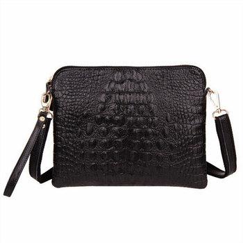 Продвижение Хиты 2014 подлинная корова кожа поддельные крокодил сумки женщин bolsas плеча сумку bolsas женщины сумка почтальона сумочки день клатч