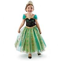 EMS DHL Free shipping little girls kids  Cute Frozen Princess Alsa Anna Tulle Summer Cartoon Dress Tutu Party  Dress NEW 100-160