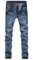 New 2014 Male Trousers Slim Pencil Boys Skinny Casual Men's Pants Large Hot Sale Retro Cotton Campus Jeans Cotton Light