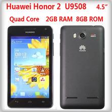 "Original Huawei Honor 2 U9508 Quad Core Mobile Phone 4.5"" IPS Screen 2GB RAM 8MP Camera android4.1 playstore root multi-language(China (Mainland))"