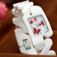 Brand new DOM T-570 quartz watches women relogio feminino ceramic fashion pearl butterfly ladies dress watch women wristwatch