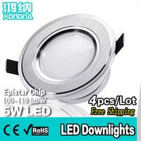 Free Shipping 4pcs/Lot 5W LED Downlights Anti-Fog Downlights SMD5730 Warm White(3000~3200K)/Cold White(6000~6500K)
