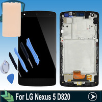 Original LCD Screen For LG Nexus 5 D820 With Touch display Digitizer Assembly replacement with frame + tools