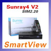 Sunray4 SR4 V2 Satellite Receiver 3 in 1 Triple tuner  Sim 2.20 Card 800se v2 300Mbps Wifi Build In Sunray800 V2 free shipping