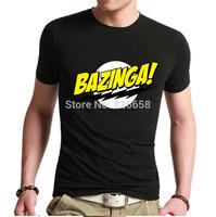 New Fashion Big Bang Theory Bazinga Men shirt T Shirts 100% Cotton T-Shirt For Man Men's Short Sleeve O-Neck Tshirt