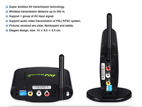 250M 2.4G Wireless A/V Transmitter & Receiver PAT350 Compatible with DVD, IPTV, digital TV STB  other devices