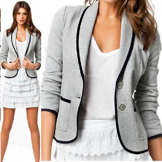 Casual Grey Blazer Womens Blazer Grey Short Casual