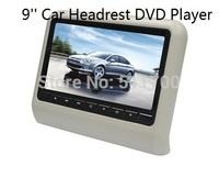 9 Inch Car Headrest DVD Player+9'' Auto Headrest Monitor,FM,IR,USB,SD,Wireless Game,MP3/MP4/MP5/DVD Player