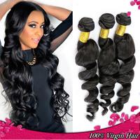 peruvian virgin hair 100% unprocessed virgin peruvian loose wave curly hair rosa hair products 4pcs/lot grade 6A natural color