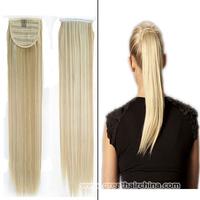 2014 Fashion Slavic Natural Hair Ponytails 70grams/ Piece High Quality 18/P613 Women Straight Wrap Around Ponytail Long Hair