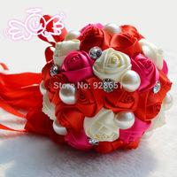 "15cm(5.9"") Wedding Flowers Handmade  Bouquet Wedding Bridal Wedding Bouquets Simulation Roses Flower Bride Free Shipping"