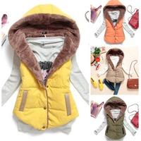 2015 new hot women's casual cotton vest cotton vest vest jacket hooded jacket M XL XXXL free postage