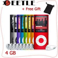 Lcd Mp4 Player 1.8 Inch Screen 4gb Mp4 Fm Radio Music Mp3/Mp4 Player Mini Slim Fashion 4TH Mp4 Player Free Gift With Earphone