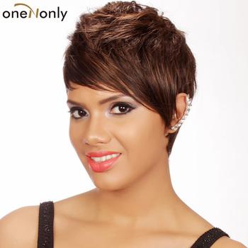 Heat resistant Full wig Swept side bang Face framing bangs Free ...