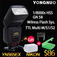 YONGNUO YN-565EX TTL Flash Speedlite w Diffuser for Nikon D750 Df D4 D5300 D7000 D7100 D5200 D800 D610 D700 D600 D3200 D3300 D90