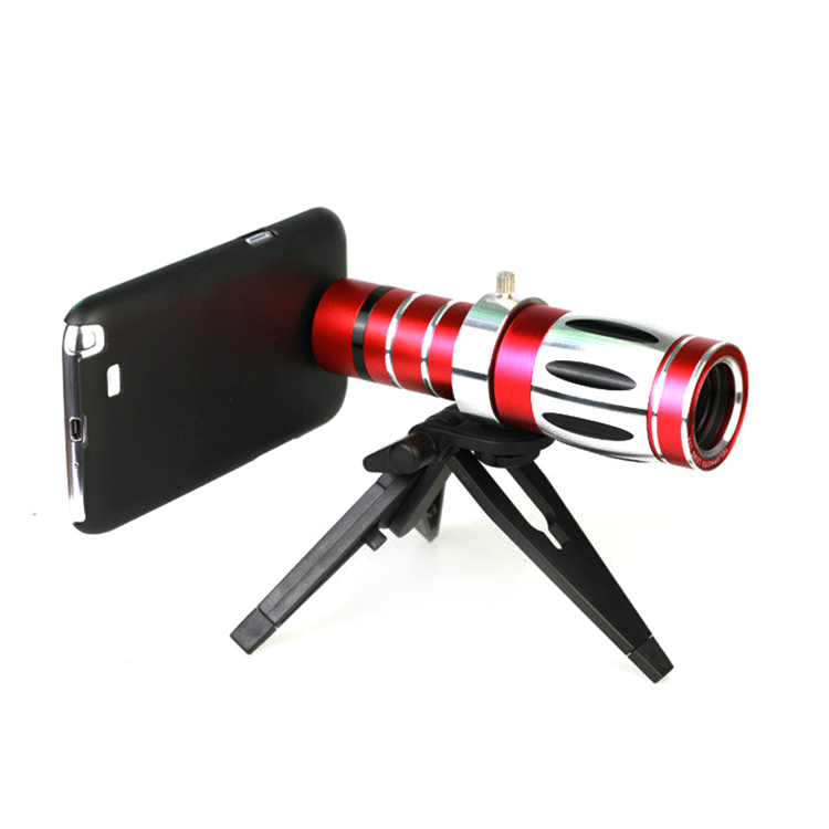 PAIAIP professional 20x optical zoom telescope camera mobile phone lens with tripod + case for iphone 4 4s 5 5s samsung(China (Mainland))