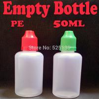 PE 50ml Plastic Bottle With Childproof Cap Dropper Bottles For Electronic Cigarette eGo Empty Needle Bottle 100pcs/lot