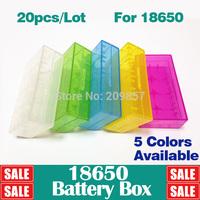 1Set (20 pcs/set) 18650 16340  CR123A Battery Case Box  5 Colors Holder Storage Container H-149A