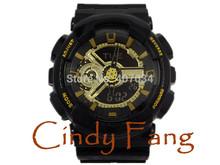 2104 HOT G sports wristwatch relogio reloj de pulsera, GMT dual display military army watch, led digital watch kids gift(China (Mainland))