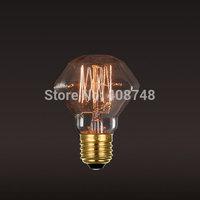 1PC 40W E27 Edison Light Bulb Incandescent Bulb 110V 220V Vintage Retro Lamp Diamond Shape Tungsten Filament Bulb