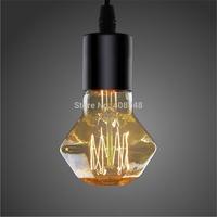 4pcs/lot  Vintage Edison lgiht Bulb 40W E27 Diamond Shade 110V 220V Antiqued Retro Lamp Tungsten Filament Bulb for indoor decor