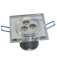 K0098 Clear Lens Bridgelux 3x3W 9W LED downlight LED downlamps Down lamps Crystal lamps Cutout 60mm 90-260V AC