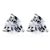 Fashion Earing For Women 2014 Piercing Ear New Design Joyas Geometric Heart Zircon Big Stud Earrings Free Shipping Wholesale