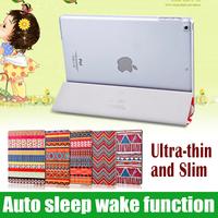smart leather case for ipad mini 2 cover  Folio Magnetic cover for ipad mini sleep wake foldable flip with stand