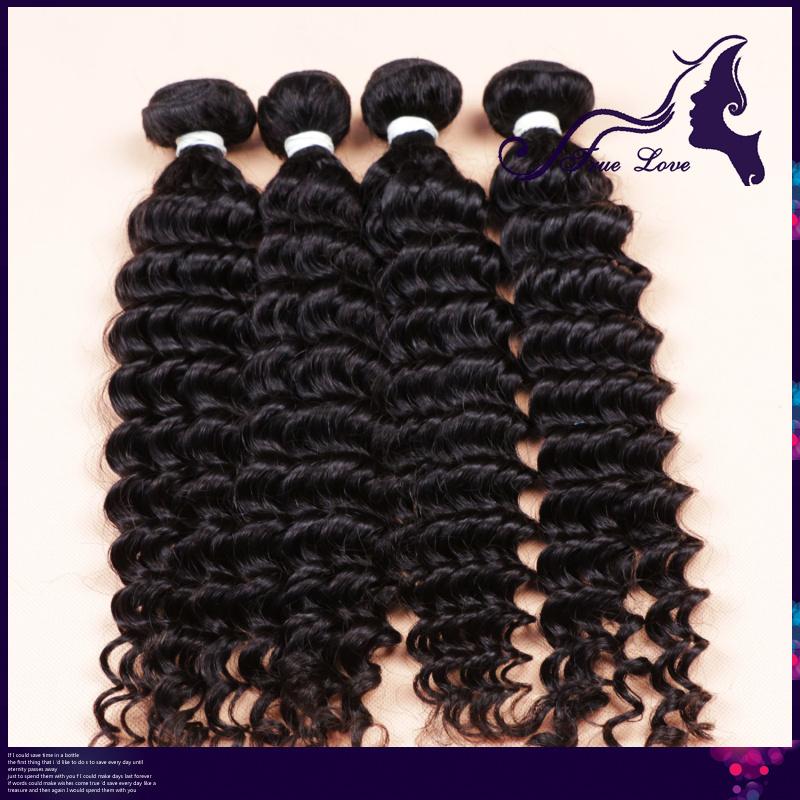Rosa hair products 5A peruvian deep wave virgin hair bundle deals 3 pcs/lot free shipping,milky way human hair weave(China (Mainland))