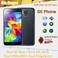 "Really 1:1 original I9600 S5 Phone MTK6592 Octa Core 5.1"" 1920x1080 Android 4.4 2GB Ram 16G Rom 16MP Fingerprint cell phone"