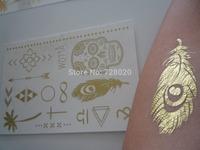 Wholesale price Metallic gold, black temporary tattoo