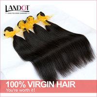 Unprocessed Malaysian Virgin Hair Straight 3/4pcs Lot Natural Black Hair Cheap Human Hair Weave Best Malaysian Hair Extensions