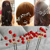 Min Order $10 handmade 6pcs/lot fashion pearl Hairpin all match bridal hair stick wedding hair accessories XC02