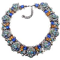 2014 New Fashion Choker Za Big Brand Shourouk Crystal Necklaces & Pendants Multicolored Statement Luxury Fashion jewelry 2617