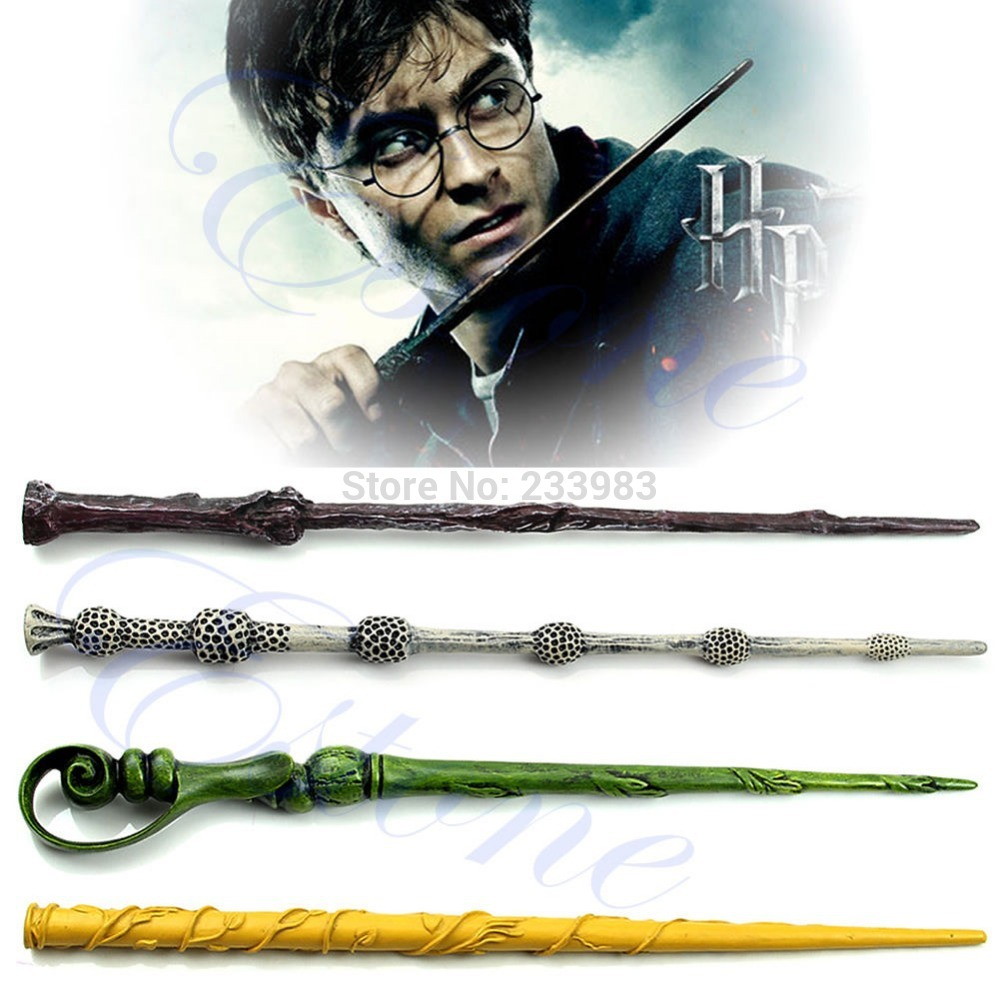Free Shipping Collection Wizard Harry Potter Magic Wand Without LED Deathly Hallows Hogwarts Gift(China (Mainland))