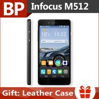 Original 4G FDD-LTE Foxconn Infocus M512 5.0 Inch HD IPS MSM8926 Quad Core Android 4.4 Mobile Cell Phone 1GB 4GB Multi Languages