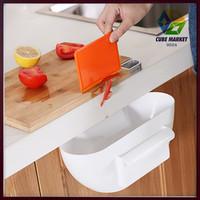 Free shipping Novelty Kitchen Cupboard Drawer Door Waste Bin Scrap Trap Storage Box Bowl (White) CM-KW0002