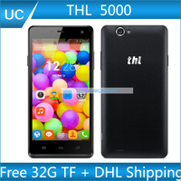 "Free 32G Card and THL 5000 thl 5000 Smartphone 5.0"" FHD Gorilla Android 4.4 MT6592  NFC 5000mAh Mobile Phone free shipping"