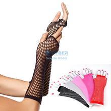 2014 New Women Sexy Long Fishnet Dance Gloves Fashion Accessory Black Mesh Gloves Fingerless Elegant Look b4 SV004995(China (Mainland))