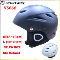 Sportwolf  Snow Sports Helmet Professional Ski Helmet Size 59-62cm Black Color Made of EPS Material