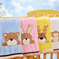 New 2014 Winter kids blanket --1PC 80*100CM Fleece Baby Blanket & Swaddling Children Bedding Set  MAOMAOYU Brand 330002