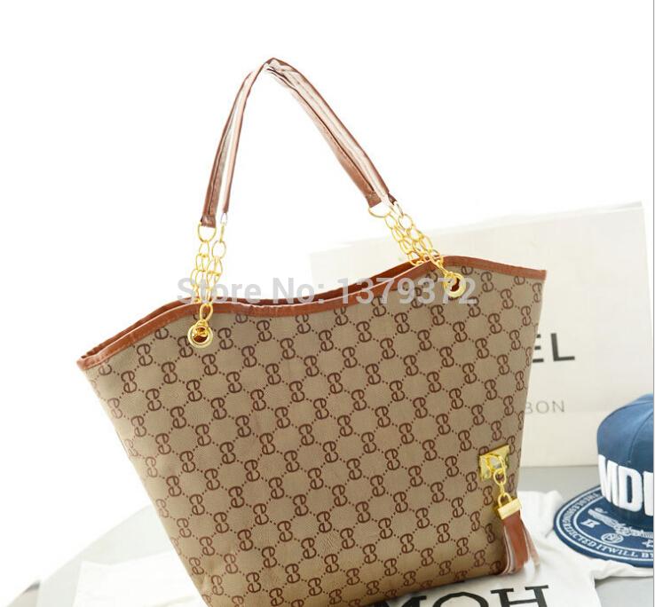 2014 Korean version of the new fashion handbags shoulder chain Tassel bag Classic women's clothing plaid pattern Bolsas Hot Sell(China (Mainland))
