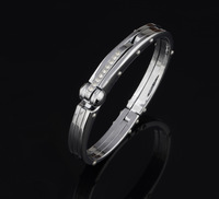 New 2014 Stainless Steel Handcuffs Men Jewelry Aliexpress High Quality Crystal Stone Bracelets Bangles For Men