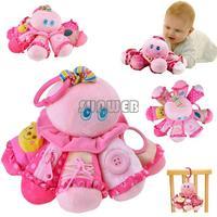 2014 New Baby Soft Toy Lovely Octopus toys for children Hanging Rattle Ring Developmental Plush baby kids Toys B16 SV006303