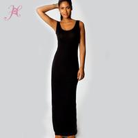6 Colors Summer 2014  Victoria Vestidos Sandy Scoop Neck Sleeveless Black Full Dress Women Sexy Long Dress Desigual Dress