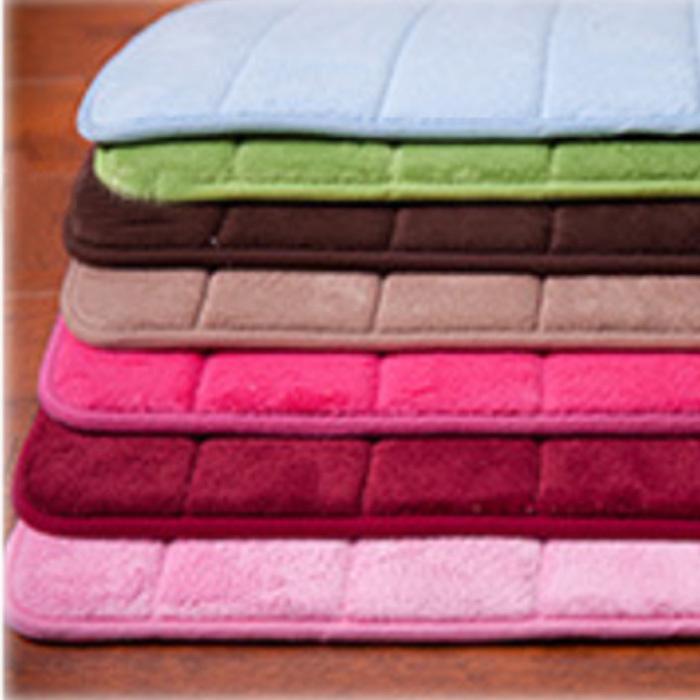 Free Shipping 50cm*80cm slow rebound memory foam coral velvet bedroom kitchen carpet absorbent bath mat for bathroom carpet(China (Mainland))